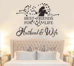 Wholesale Best Living Room Designs - Heart Best Friends for Life Husband Wife Wall Decal Quote Art Sticker Decor UKWS