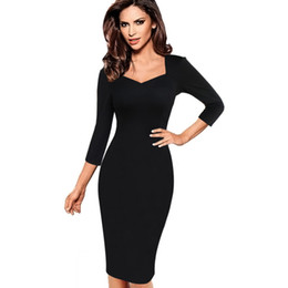Wholesale Sexy Office Wear Womens - Vfemage Womens Sexy Elegant Slim Casual Work Office Business Party Fitted Sheath Bodycon Dress 2056
