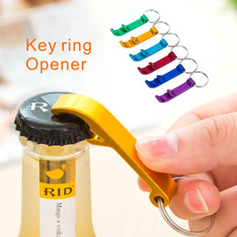 Wholesale Multi Tool Opener - Aluminum Alloy Portable Beer Wine Bottle Opener With keyChain 2-in-1 Design for Party Gift Multifunction Tool