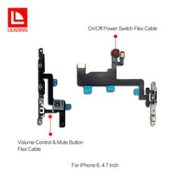 Wholesale proximity sensor switches - On Off Power Switch + Volume Control Mute Button flex cable For iPhone 6 6plus 6s 6s plus sensor proximity flex cable free shipping