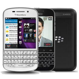 Wholesale Core Classic - Refurbished Original Blackberry Classic Q20 US EU 4G LTE Unlocked Mobile Phone 3.5 inch Dual Core 2GB RAM 16GB ROM 8MP QWERTY Phone DHL 5pc