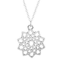 Wholesale Western Necklaces - 10pcs lot Hot Sale Brand Design Western Style Multilayer Pendants Gold Silver Hollow Flowers Necklace Jewelry Statement