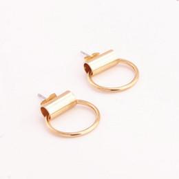 Style coréen petit rond cercle géométrique boucles d'oreilles pour les femmes simples boucles d'oreille oreille bijoux usine directe vente livraison gratuite B1151 ? partir de fabricateur