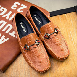 Wholesale Hot Spring Style For Men - Hot Sale Crocodile Style Men Loafers Genuine Leather Men Flats Men Driving Shoe Oxford Shoes For Mens Plus Size