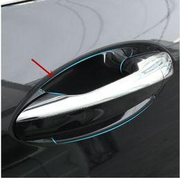Wholesale Protection Film Vinyl - 4pcs Car Door Wrist Protective Film For Mercedes Benz E class W213 E200 300L 2016 2017 Door Bowl Protection Stickers