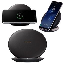 Wholesale Receiver Direct - New OEM High Quality Qi Fast Wireless Charger Rapid Convertible Charging Stand for Samsung Galaxy S7 S8 S8Plus S8+ Black Free Shipping