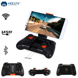 Wholesale Smart Pad Tablet Pc - Original MOCUTE 050 Wireless Bluetooth Game Pad Joystick For iPhone iOS Android Tablet PC Windows TV Box Smart TV For Game Fans