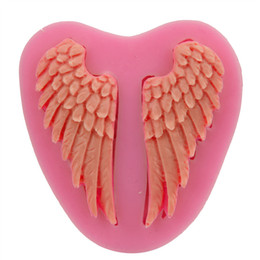 Wholesale Silicone Soap Bar - Beautiful Angel Wings shape Silicone 3D Mold Cookware Dining Bar Non-Stick Cake Decorating fondant soap mold