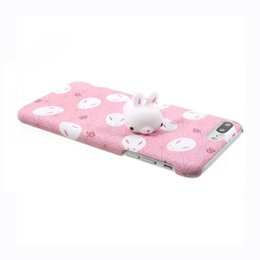 Wholesale Red Panda Iphone Case - Squishy Phone Case for iPhone 6S i6 plus 3D Cute Soft Silicone Panda Sleeping Cat Kitty Cover for iPhon 7 7plus Housing Cover