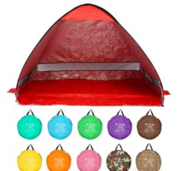 Wholesale Pop Up Tent Beach - Quick Automatic Opening beach tent sun shelter UV-protective tent shade lightweight pop up open for outdoor camping fishing