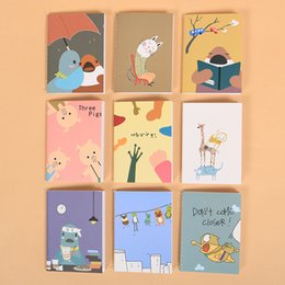 Wholesale Book Supplies - Wholesale- 9PCS Korean Animal Kawaii Mini 120K Notepad Cute Notebook Cartoon Note Book School Essential Supplies