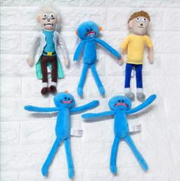 Wholesale happy plush - Rick and Morty Plush Toys 25cm Rick Morty Happy Sad Meeseeks Stuffed Plush Toys Dolls For Kids Gift LJJO2779