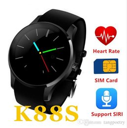 Wholesale Heart Rate Monitor Gel - 2016 K88S Bluetooth Smart Watch support SIM TF Card Smartwatch Silica Gel strap with Heart Rate Monitor for Android IOS pk k88h POST