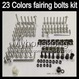 Wholesale Kawasaki Zx6r Fairings 94 - Fairing bolts full screw kit For KAWASAKI NINJA ZX6R 94 95 96 97 ZX-6R 6 R ZX 6R 1994 1995 1996 1997 Body Nuts screws nut bolt kit 13Colors