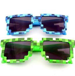 Wholesale Sunglasses Bit - Pixel Mosaic Plaid sunglasses fashion men women CPU Bit Low Resolution Pixelated Sunglasses UV400 Party Fancy Dress props