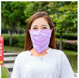 Wholesale Uv Summer Mask - 2PCS LOT Hot Selling Cheap Nice Summer new mask Female cycling fashion dot breathable mask Prevent bask in uv