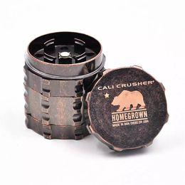 Wholesale Polar Box - The new heavy metal grinder 4 layer Diameter 45mm broken cigarette Cali Crusher grinder Polar bear grinder With gift box packaging