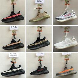 Wholesale 12 Deep - 12 Color semi Froze yebra beluga2.0 350 V2 boost Shoes triple white Zebra UV light Kanye west sneakers Men Women Running Shoes US5-US13