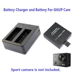 Wholesale Battery Backup Camera - Wholesale- Free Shipping!!1000mAh Backup Rechargable Li-on Battery For GitUP Git2 Sport Camera DV+1pcs Battery Charger