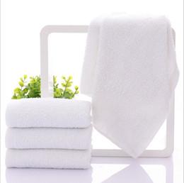 Canada 32 * 70 cm 100% coton blanc visage main cheveux serviette gant de toilette hôtel Favor fournitures 10pcs / lot JF007 Offre