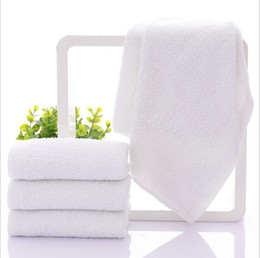 Argentina 32 * 70 cm 100% Algodón Cara Blanca Mano Toalla de pelo Toalla Hotel Favor Suministros 10 unids / lote JF007 cheap white hair towels Suministro