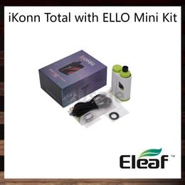 Wholesale Easy Button Wholesale - Eleaf iKonn Total with Ello Mini Kit 2ml   5.5ml Ello Mini XL Tank Hidden Fire Button Design with Easy Operation 100% Original