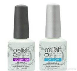 Wholesale Gelish Color Gel Nail Polish - 300pcs High quality Soak off color led & uv gel nail polish Gelish gel glue nail art primer foundation base coat+top coat