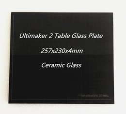 Wholesale 3d Printer Glass - Freeshipping Hot Bed Table Glass Ceramic Glass Plate for Ultimaker 2 UM2 257x230x4mm 3D Printer Parts