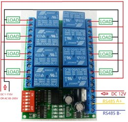 Wholesale Module Relay - 8 Channel DC 12V RS485 Relay Module Modbus RTU 485 Remote Control Switch for PLC PTZ Camera Security Monitoring