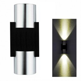 Wholesale Scattered Light - 2W LED Wall Light Sconce Decor Fixturelamp with Scattering Light Metal Straight Stick Body Hall Porch Bulb Wash light