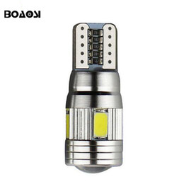 Wholesale Light Canbus - High power Canbus T10 LED 5630 SMD Interior Bulb 194 168 W5W Parking Backup Fog Light Brake Lamps Auto No Error car light