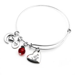 Wholesale Nice Friends - Silver-plated moon heart love charms bracelets expandable bangle copper alloy nice gift fashion jewelry for mom girl friend sisters
