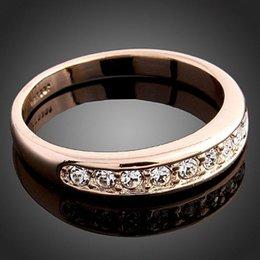 Wholesale Diamond Single Row - Korean fashion exquisite fashion jewelry wholesale upscale luxury single row of exquisite diamond ring lovers ring