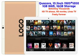 Wholesale Android Quad Tablet Gps - 10pcs Custom Made Android Tablet TV watching Thousands of HD Movies and HD TV shows MTK Quadcore 1GB 16GB 10.1inch HD WIFI Bluetooth GPS