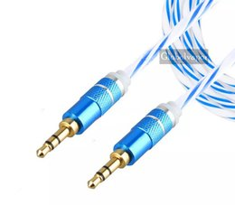 Wholesale Cable Iphone Mini Jack - Colurful Audio AUX Cable Dual 3.5mm Stereo Color Wire Auxiliary Cords Jack Male To Male M  M 1M 3FT For Iphone Samsung Mobile Phone with No