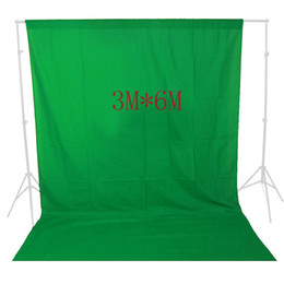 Canada 10x19 pi vert écran toile de fond mousseline vidéo photo photographie studio fond éclairage photo Chromakey Chromakey coton chiffon Offre