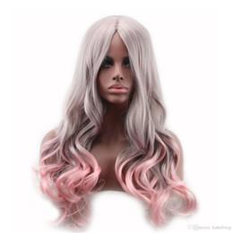 Wholesale Hair Wigs Uk - UK Rainbow Lolita Multi Color Wig Long Big Wavy Curly Spiral Hair Cosplay Wigs Curly Long Hair Anime Lolita Harajuku Style Ringlet Multi