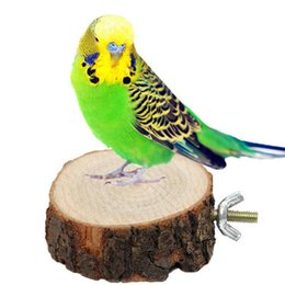 Wholesale Perch Stand - New Pet Perch Parrot Bird Squirrel Round Wooden Stand Platform Hanging Toy Wood Perches gift