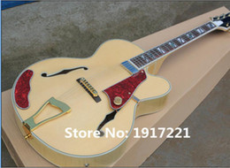 Wholesale Electric Guitar Natural Color - Factory Customized Hot Sale Semi-hollow Electric Guitar with Natural wood Color Body,Gold Hardware,Can be Changed