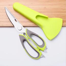 Wholesale Cutter Knives - Multi-function Kitchen Scissor Clever Kitchen Chicken Fish Bone Stainless Steel Meat Scissors Cutter Shears Knife KKA1924