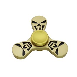 Wholesale Metal Skulls For Sale - Skull Head Hand Spinner For Adults Reliever Press Fidget Spinners Triangle Metal Multi Function Finger Toy Factory Direct Sales 10dr B