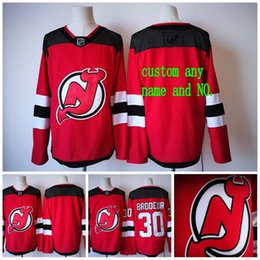 Wholesale Brand Hockey Jerseys - Customize Mens New Brand 30 Martin Brodeur New Jersey Devils 26 Patrik Elias 9 Taylor Hall 2017 2018 AD Custom Jersey Personalize size S-4XL