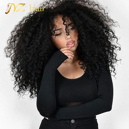 Wholesale Brazilian Kinky Curly Lace Wigs - JYZ Kinky Curly Wig Lace Front Human Hair Wig With Baby Hair Peruvian Full Lace Human Hair Wigs Curly Wig For Black Women