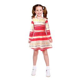 Mignonne fille cosplay à vendre-3-10 ans INS Kids Autumn Long Sleeve Moana Baby Girls Cosplay Costume Robes One-Piece Cartoon Movie Cute Dress Princess robes de fête