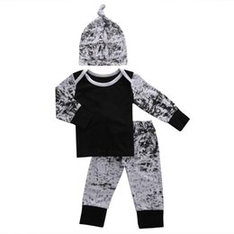 Wholesale One Year Boy - Toddler Boys Clothing Kids Clothes Set Baby Boutique Tracksuit Next Infant Outfit Long Sleeve Legging Pants One Year Kid Pajamas