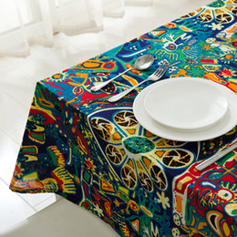 Wholesale Print Christmas Table Runner - Underwater World Printed Tablecloth Table Runner Cotton and Linens Table Cover Wedding Christmas Decorations for home