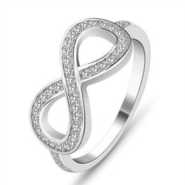 Wholesale Ring Knots - 2017 new ring design fashion 925 Sterling Silver Love Infinity Infinite Knot lasies finger ring modern jewelry