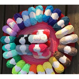 Wholesale Wholesalers For Blankets - 10pcs 300m DIY Knitting for Rugs Woven Thread Cotton Cloth Yarn Creative Hand Crocheted Basket Rug Blanket Hat Elastic Crochet Cloth Tape 10