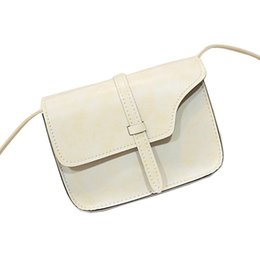 Wholesale Cheap Designed Handbags - Wholesale-Fashionable Simple Design Women Vintage Messenger Bag PU Leather Shoulder Bag Female Retro Handbags Shopping Bag Cheap Price