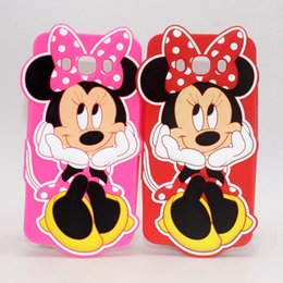 Wholesale Galaxy Grand Duos 3d Cases - 3D Cartoon Minnie Mouse Phone Cover Case For Samsung Galaxy A3 A5 A7 J1 J3 J5 J7 2016 Ace4 G313 Grand Prime Duos i9082 G530 Silicone Cases